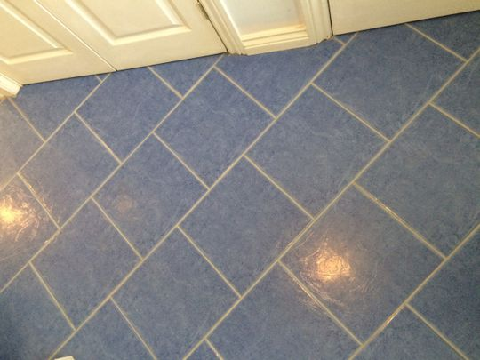After grout restoration