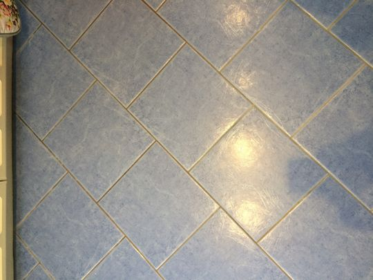 Grout before restoration